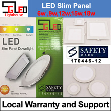 Safety Mark★LED Slim Panel★Down Light★Local Warranty★6W★9W★12W★15W★18W★LED Ceiling Light★ LED Panel
