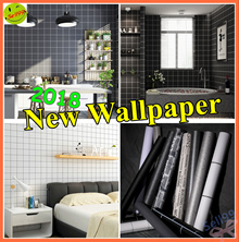 【2018 New】Self-adhesive Wallpaper ❤ Dark color series  ❤ So Cool  ❤ Black and white gray ❤【5m*0.6m】