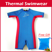 Children thermal swimwear /Swimming Suit /Kids Keep Warm Snorkeling / diving/float/swim wear