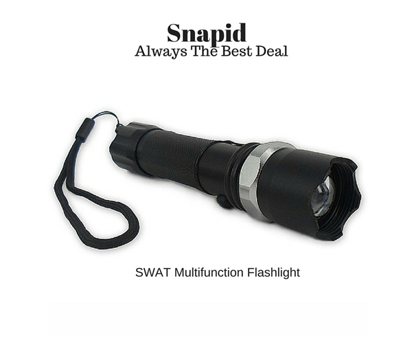 Swat Rechargeable Multi function emergency LED Flashlight/Torchlight/Lampu Suluh Deals for only RM18.9 instead of RM18.9