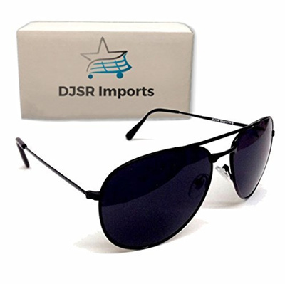 3703575099cb Sunglasses Super Dark Black Dark Aviators Men Lens Shades Black Sunglasses  Police Lenses