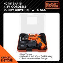 Black and Decker 4.8V Nicad Screw Driver 15 Pc bits set - KC4815KA15-XD
