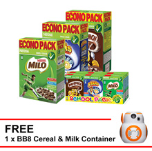 Limited time ! Nestle KOKO KRUNCH +MILO CEREAL +Honey star 500g +SCHOOL PACK FREE star wars BB8