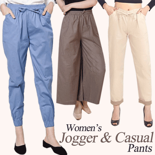 BEST SELLER! WOMEN JOGGER AND CASUAL PANTS Deals for only Rp39.500 instead of Rp64.754