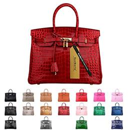 Designer Handbag Top Handle Padlock Womens Leather Bag with Golden Hardware