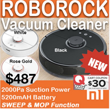 Xiaomi Roborock Vacuum Cleaner Gen 2 mop function★1 YEAR WARRANTY★ 3 COLOR AVAILABLE
