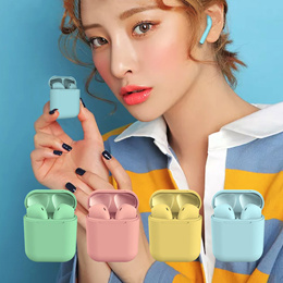 Wireless headphone Colorful i12 tws inpods 12 earphone Earbuds with Mic For Xiaomi Samsung Huawei