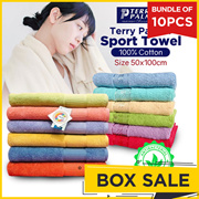 [Bundle 10pcs] Terry Palmer _ Sport Towel size 50cm x100cm_many model_100% cotton_Antibacterial