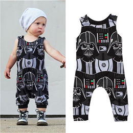 Cool Newborn Toddler Kid Boys Star Wars Romper Bodysuit Jumpsuit Clothes Outfit