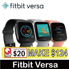 Fitbit Versa Watch Heart Rate + Activity Tracker(No Retail Package)