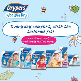 [Drypers Official] New Improved Wee Wee Dry Cartons Sales/ New Improved/ Singapore Exclusive