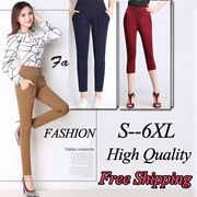 Korean Style Fashion Lady Skinny Casual Pants Bottoms Christmas Gift S~6XL  PLUS SIZE Free Shipping