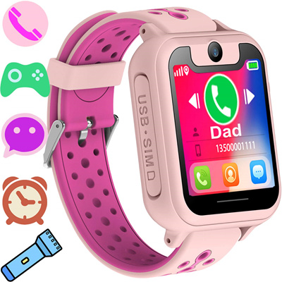 Synmila Kids Smart Watch Phone GPS Tracker for Boys Girls Smart Wrist Watch  Phone with SIM Activity