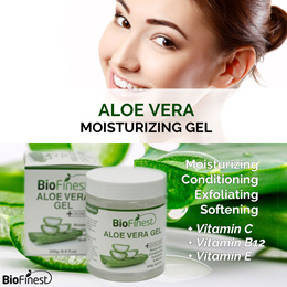 Aloe Vera Gel - Absorb Fast/ No Sticky Residue - Moisturizer For Skin/ Face/ Hair/ Body
