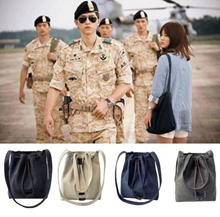 Song Hye Kyo fashion women canvas handbag totes crossbody shoulder bag Descendants of the Sun
