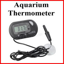 Digital Aquarium LCD Thermometer With Sensor Probe Aquatic Fish Water Tank Temperature Display Gauge