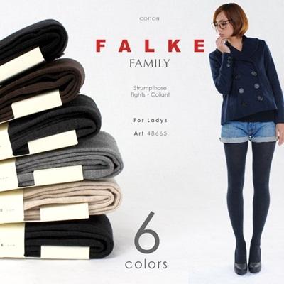 Dark Navy Falke Family Cotton Tights