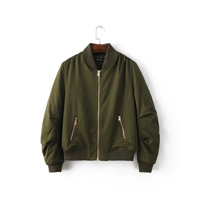 Europe European and American style bomber jacket women army green jackets  baseball uniform thickened 32cf5c152