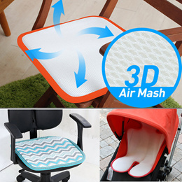 Germany 3D Air Mesh Ventilation Sitting Cushion★Cooling Mat★Car Chair Stroller Cool Seat/2,3persons