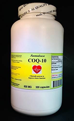 Favmedsusa CoQ-10 Q-10 coq10 CO Q10 co-enzyme 600mg - 300 Capsules