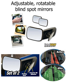 Brand New Original Adjustable Total View Mirror. Rear View Mirror. As seen on TV. Set of 2 mirrors.