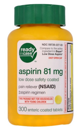 Life Extension Aspirin Low Dose Safety Coated 81 mg 300 Enteric Coated Tablets