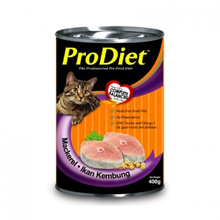** Free Shipping Event ** (West Msia) ProDiet Cat Food Mackerel Flavor 400g Set of 12