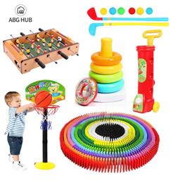 [ABG-HUB] 100pcs/300pcs domino // Soccer board toy // Golf set // Basketball set // Staking Rings //