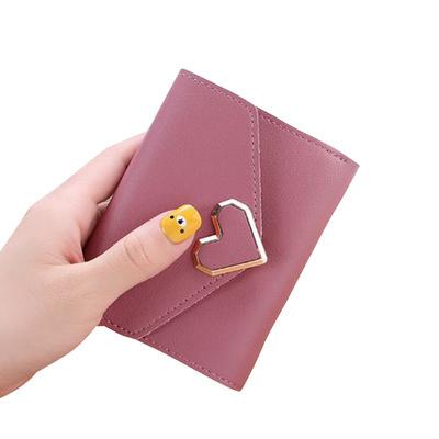 mini wanita hati metal heart shaped wallet
