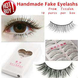 ♕Taiwan 女人我最大 Eye Eyelash/Handmade Eye lashes/ Fake Eyelashes/ 10 Pair per box/ ♕