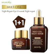 【Secret Key HQ Direct Operation】1+1 Multi cell night repair Ampoule 50ml/Eye Cream15g/Serum