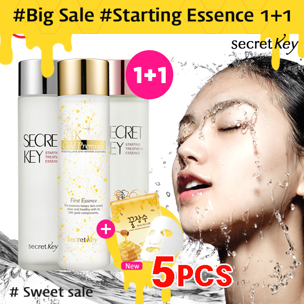 ?Secret Key HQFREE Mask Pack 5pcs?1+1?Starting Treatment Essence/Rose/24k Gold/Snow white Deals for only S$63.4 instead of S$0