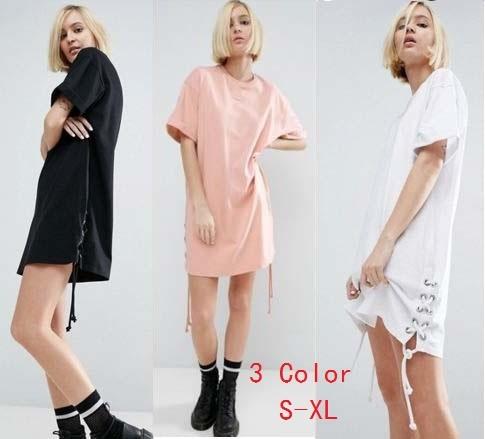 ヨーロッパやアメリカのファッションのレースの装飾夏のドレスカジュアルファッション半袖ドレス韓国ファッション/ワンピース/花柄ワンピース/Vネックワンピース