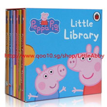 ¥6 books /set Peppa Pig Story Book for baby Children English picture books Peppa Pig little Library