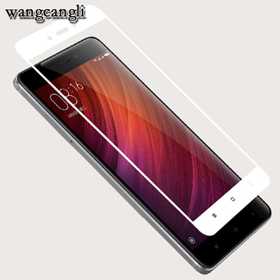 Wangcangli 3D Tempered glass xiaomi redmi 4X film glass on xiaomi redmi Note 4X protective glass