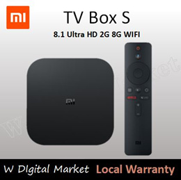 Original Global Xiaomi Mi TV Box S 4K HDR Android TV 8.1 Ultra HD 2G 8G WIFI Google Cast Netflix