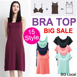 [JD]★High quality Bra Dress/Tank Top/Bra Top/Padded Camisole/Yoga Wear/Plus size/Sports Bra★SG Local