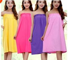 Beauty salon robe bathrobe bath skirt tube top wholesales wrapped Pajamas steaming cotton ladies sau