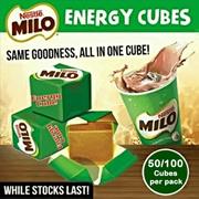 [50 Pcs] Nestle MILO Energy Cubes Original_Choco Milo Malted Coco Cubes