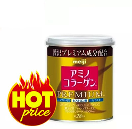 LOWEST PRICE★BUY 2 FREE SHIPPING★Meiji Amino Collagen Powder Premium Gold Can/Refill Pack!!