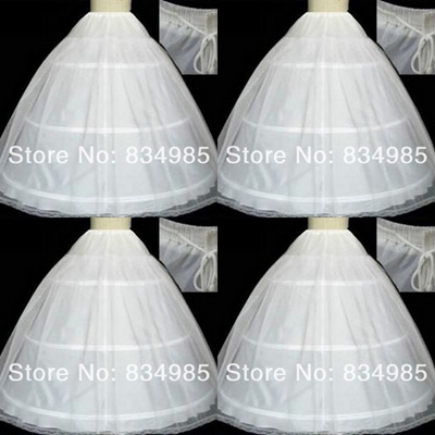 b07259f2defd Hot sale 50% off 3 HOOP Ball Aline Gown BONE FULL CRINOLINE PETTICOAT  WEDDING SKIRT