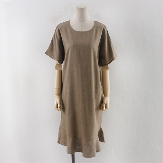 子供ウーマン始原フリルのワンピースCO1707ビックサイズ シフォン/レースのワンピース/ 韓国ファッション