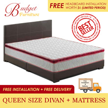 BUDGET FURNITURE BED SET. BED PACKAGE. QUEEN SIZE DIVAN WITH MATTRESS. FREE DELIVERY+INSTALLATION