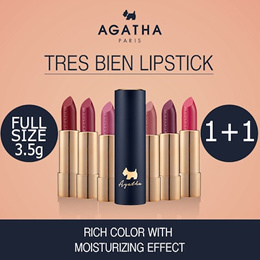 SUPERSALE ONLY $8.9!! [Buy 1 Get 1 Free] AGATHA Tres Bien Lipstick / Christmas Gift / French Mood