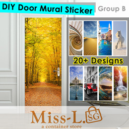 DM-DIY Door Mural Sticker-Group B/Paper Sticker/wallpapers/stickers/FUNLIFE