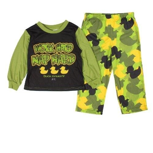 Duck Dynasty Boys Work Hard Nap Hard Toddler Pajamas