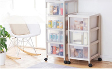 Multipurpose Storage Transparent Drawers Cabinet with Wheels