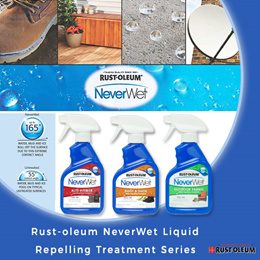 【RUST-OLEUM】Neverwet Liquid Repelling Treatment Series