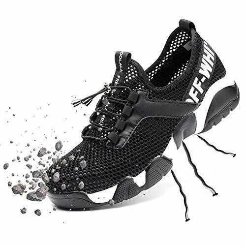 SUADEX Steel Toe Shoes Men Breathable