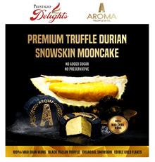 【AROMA PREMIUM TRUFFLE Mao Shan Wang Durian /Molten SNOWSKIN MOONCAKE (Box of 4) 】